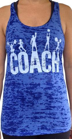 Coach Royal Blue Burnout Tank