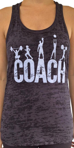 Coach Black Burnout Tank