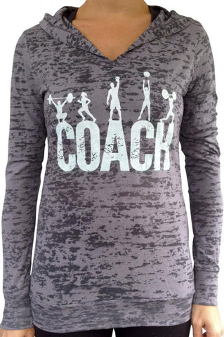 Coach Grey Burnout Hoody