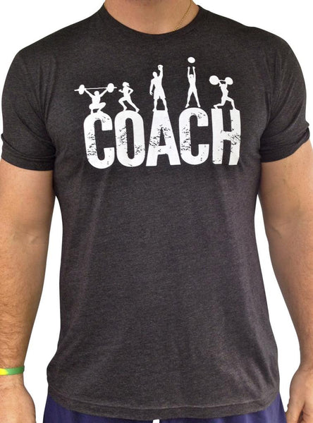 Mens Coach Charcoal Tri Blend Crew Neck
