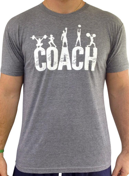 Mens Coach Heather Grey Tri Blend Crew Neck