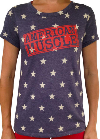 Women's American Muscle Star Tri Blend T-Shirt