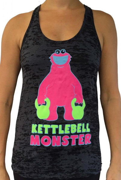 Kettlebell Monster Black With Pink Burnout Tank