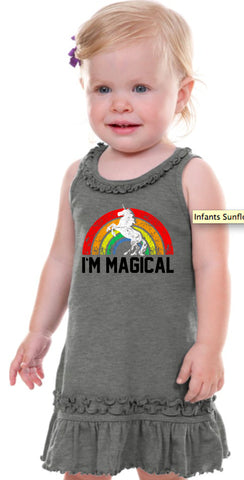 Im Magical Rainbow Unicorn Infant Tank Dress