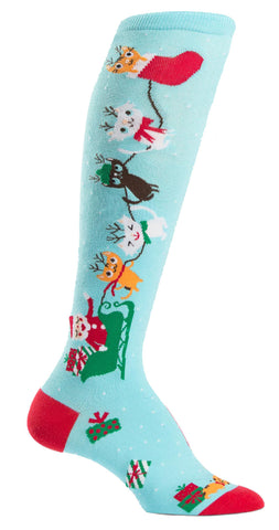 Jingle Cats Holidays Knee Socks