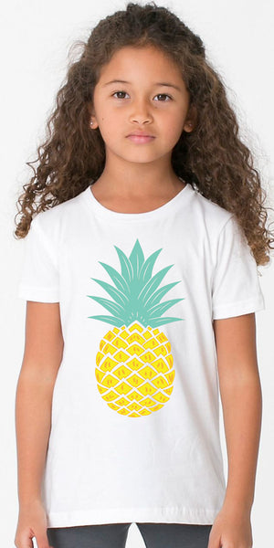 Youth Pineapple White TShirt