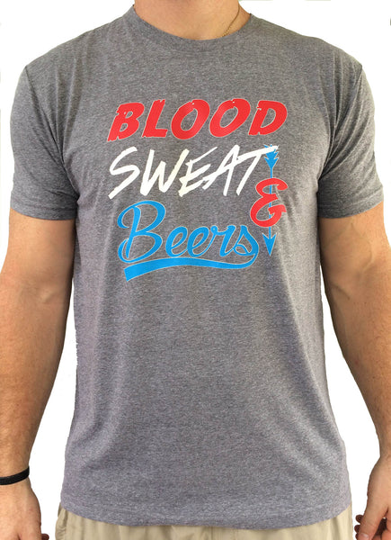 Mens Blood, Sweat and Beers Triblend Tshirt
