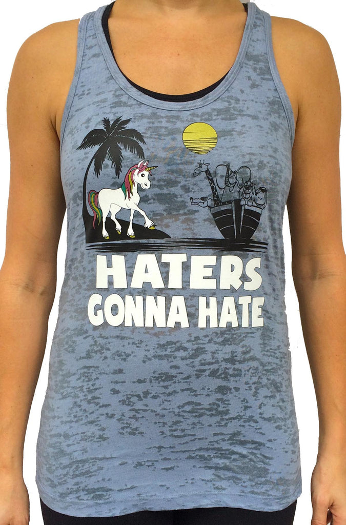 84dd200e735ec Unicorn Hater Grey Burnout Tank Top