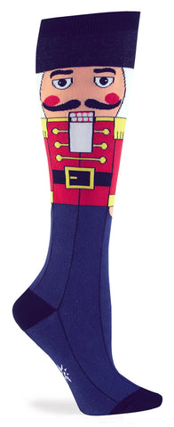 Nutcracker Christmas Knee Socks