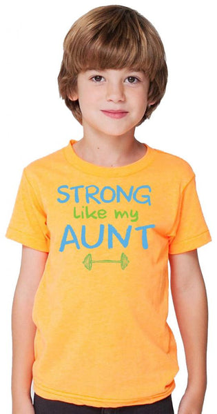 Strong Like My Aunt Orange Tshirt