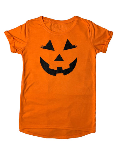 Women's Halloween Orange Tunic Loose Casual T-Shirt Top