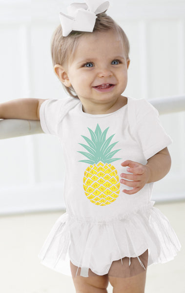 Pineapple Infant Tutu Onesie
