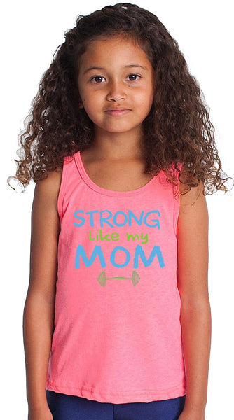 Strong Like My Mom Pink Tank Top