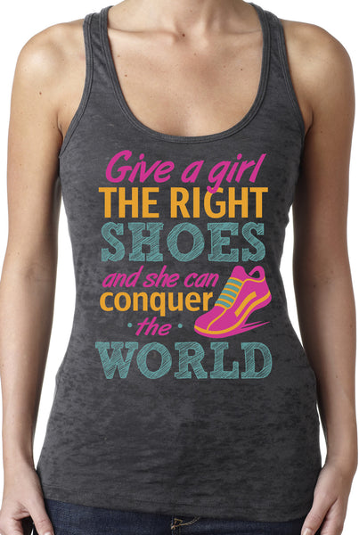 The Right Shoes Grey Burnout Work Out Tank