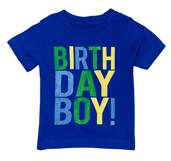 Royal Blue Birthday Boy T-Shirt