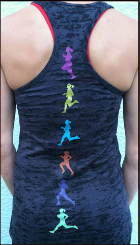 Running Moves Black Burnout Tank
