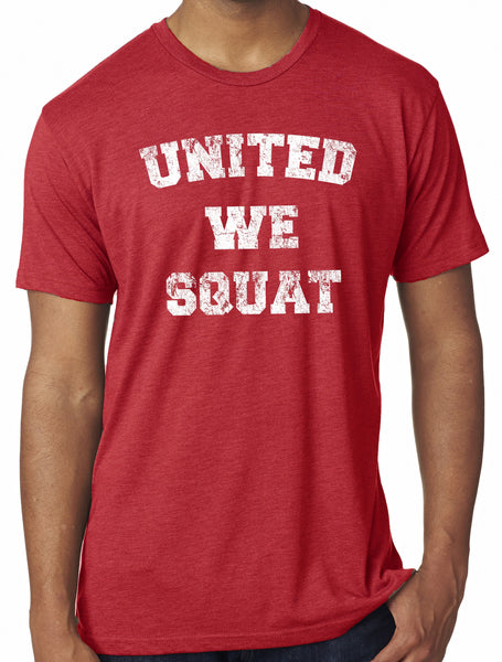 Mens United We Squat Tri Blend Crew Neck