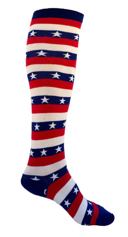 USA Stars and Stripes Knee Socks