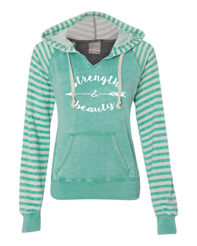 Strength & Beauty Jade Pullover Fleece Sweatshirt