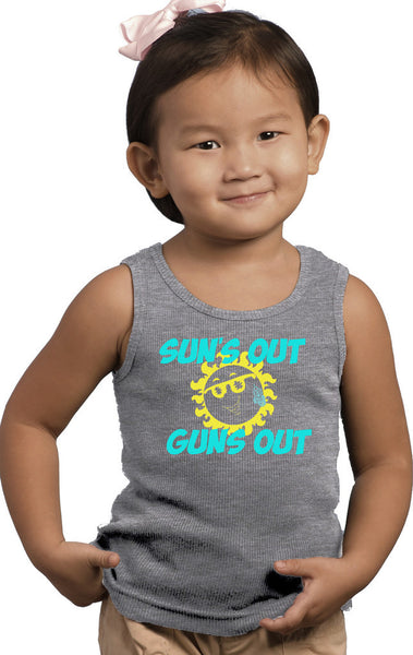 Infant Suns Out Guns Out Pink Racerback Tank