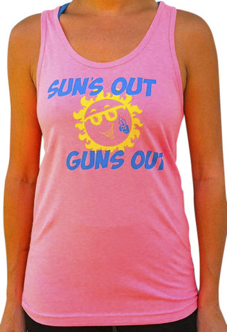 Suns Out Guns Out Poly/Cotton Blend Tank