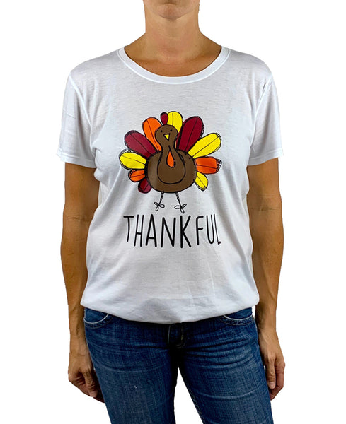 Women's Thanksgiving Thankful T-shirt