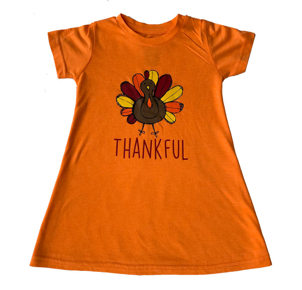 Girls Thankful T-Shirt Dress