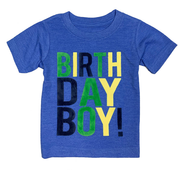 Heather Blue Birthday Boy T-Shirt