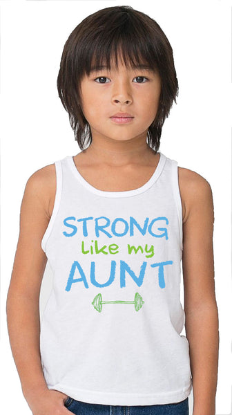 Sale - Strong Like My Aunt White Tank Top