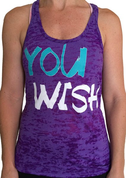 You Wish Purple Burnout Tank