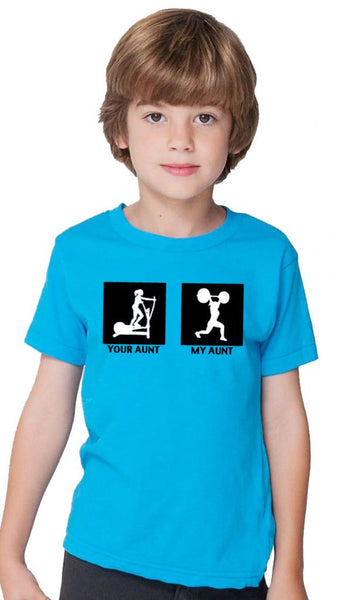 My Aunt Children's Tshirt Blue