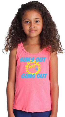 Youth Sun's Out Guns Out Neon Pink Tank