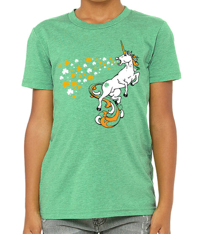 Youth and Toddler St. Patrick's Day Tri Blend Irish Unicorn Tshirt