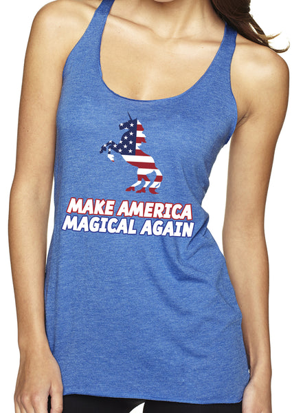 Make America Magical Unicorn Tri Blend Tank
