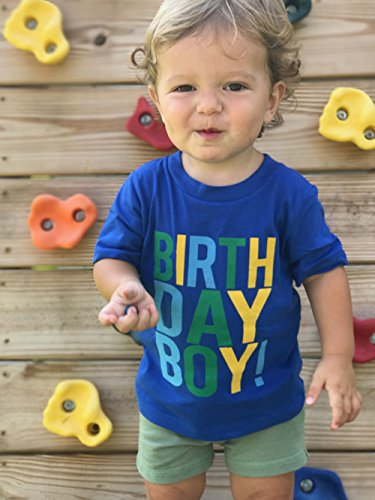Navy Birthday Boy T-Shirt