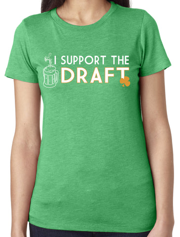Support The Draft Triblend Scoop Neck Green