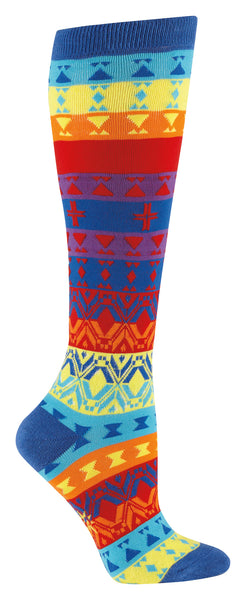Kaleidoscope Multi Color Knee Socks