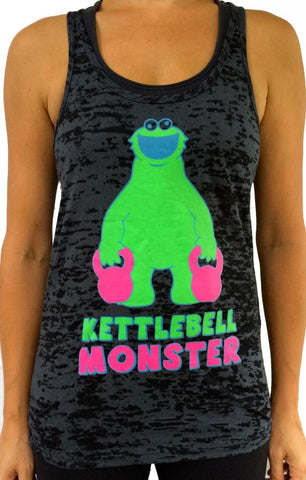 Kettlebell Monster Black With Green Burnout Tank