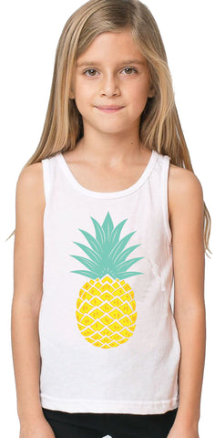 Youth Pineapple White Tank