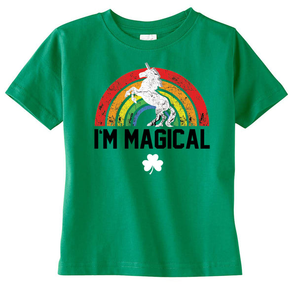 Kids St. Patrick's Day I'm Magical Unicorn Tshirt