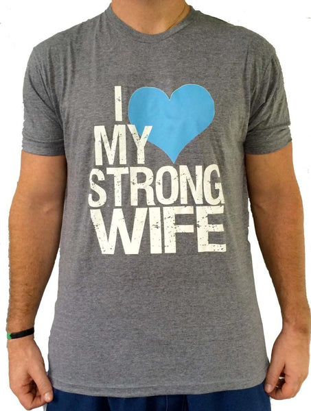 Mens Strong Wife Triblend Tshirt
