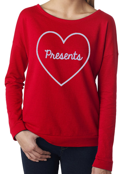 Christmas I Love Presents Terry Long Sleeve