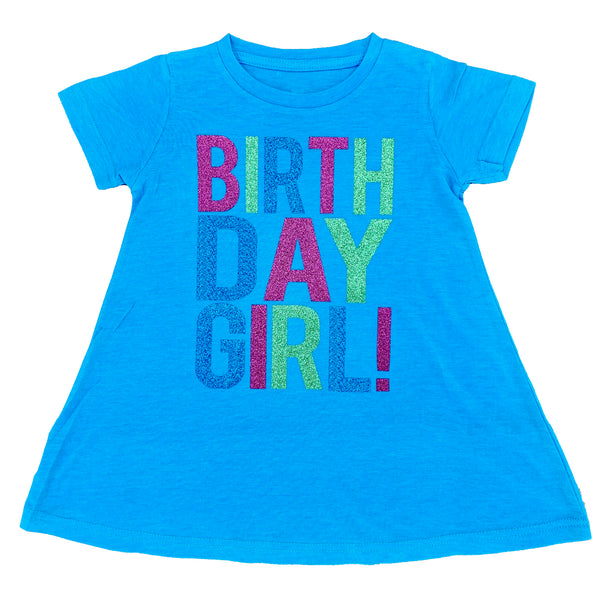 Youth Birthday Girl Glitter Dress