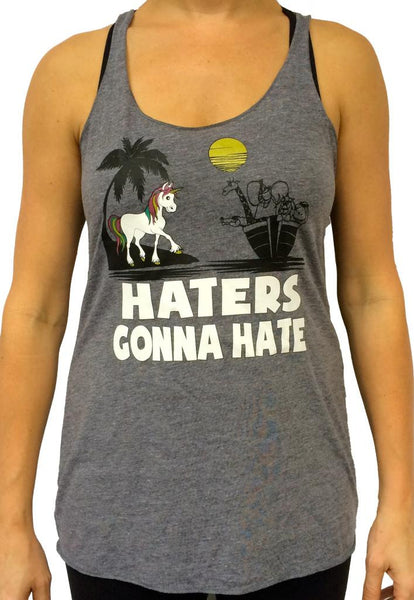 Unicorn Hater Triblend Tank Top