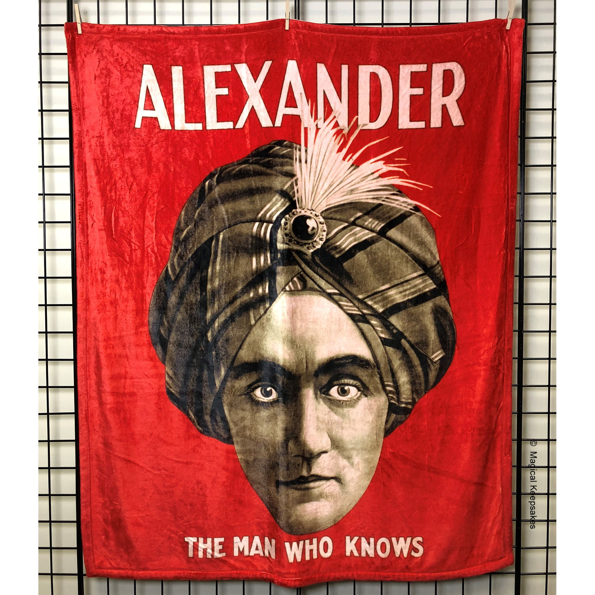 Alexander 'The Man Who Knows' Throw Blanket