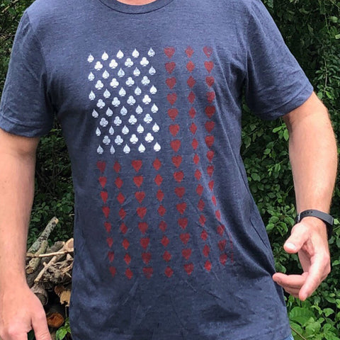 invisible threads american flag poker suits las vegas tee made in the usa