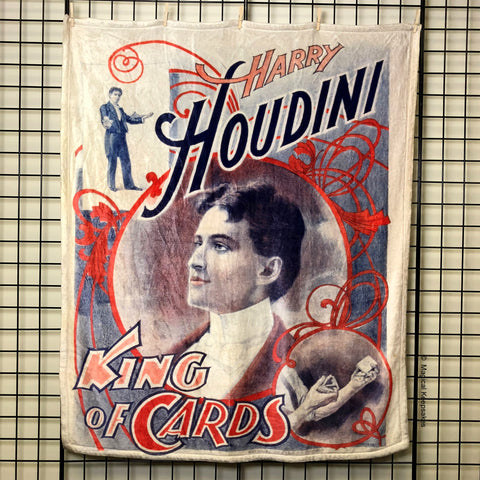 Houdini 'King of Cards' Throw Blanket