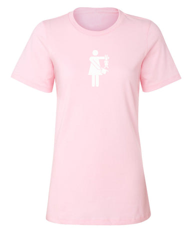 Hat Trick™ Ladies fitted tee w/ Pizzazz finish