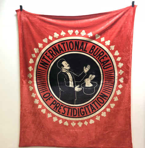 International Bureau of Prestidigitation (I.B.P.) Throw Blanket