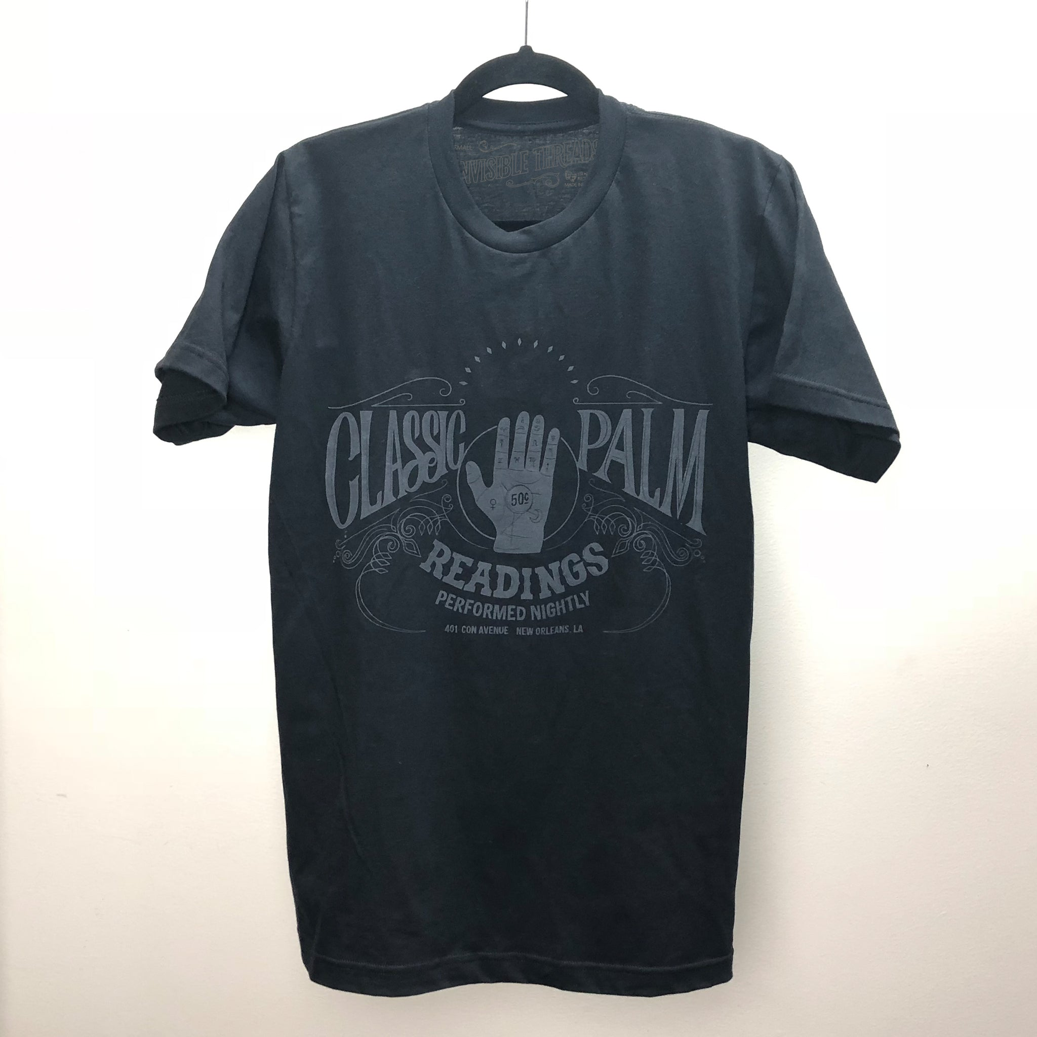 Invisible Threads Classic Palm Readings Friday the 13th fortune telling graphic tee seance spirit t-shirt